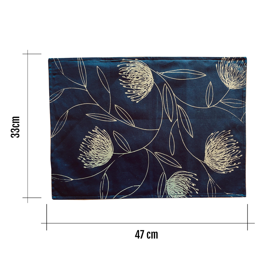 Navy & Gold Reversible Placemats - KNUS