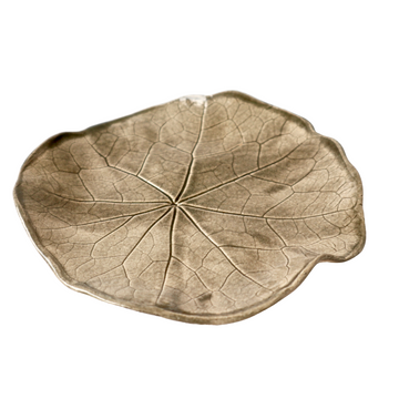 Brown Nasturtium Leaf Medium Plate - KNUS