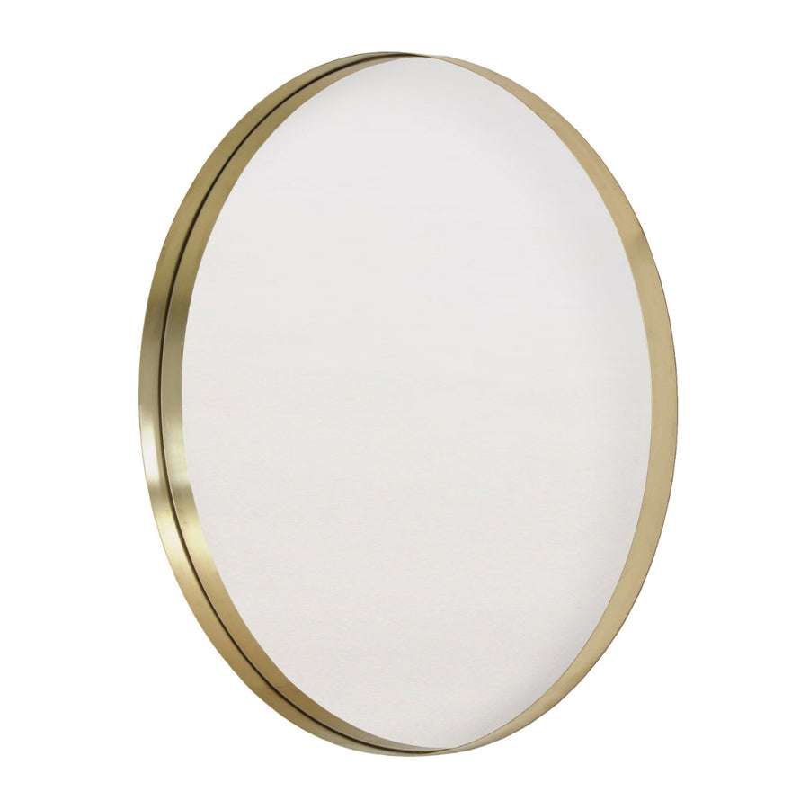 LED Backlit Brass Deep Frame Circular Wall Mirror - KNUS