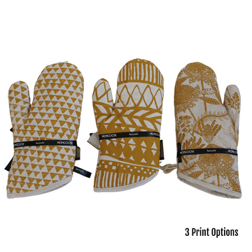 Mustard Printed Kitchen Glove - KNUS