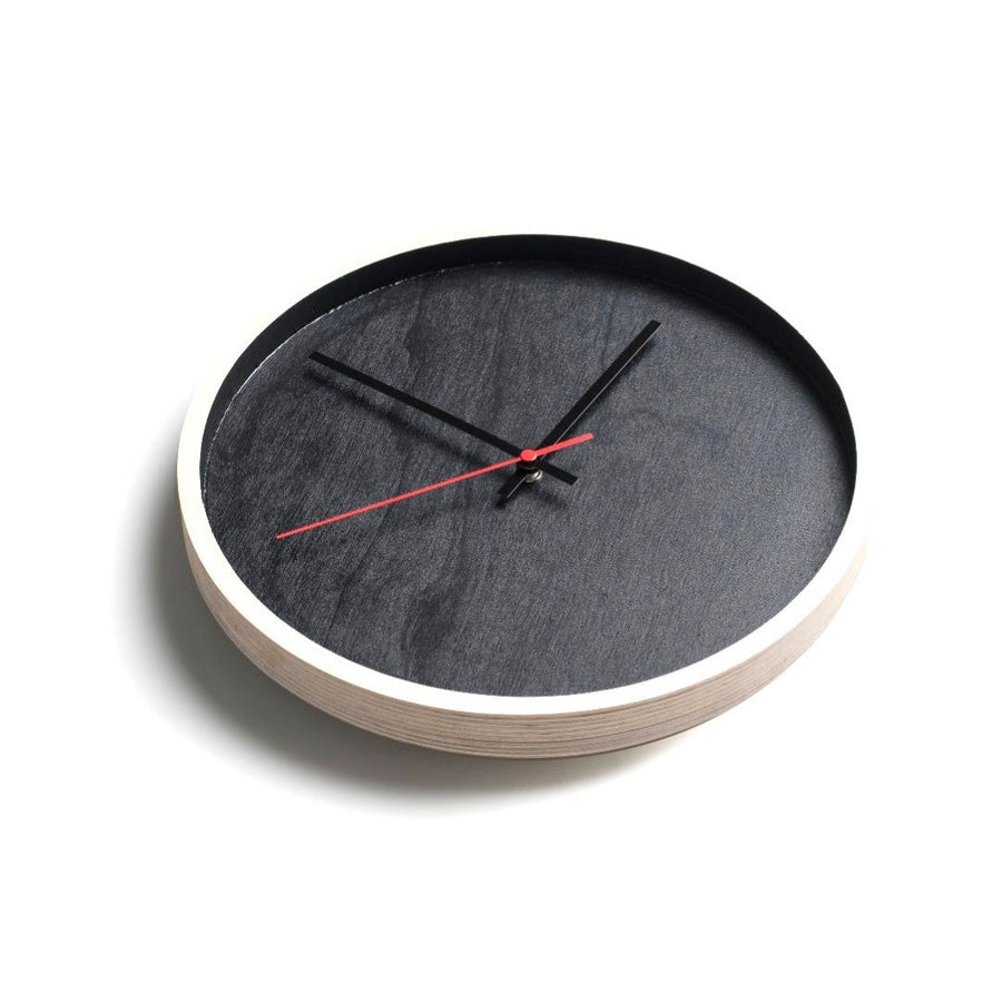 Black Deep Frame Round Clock