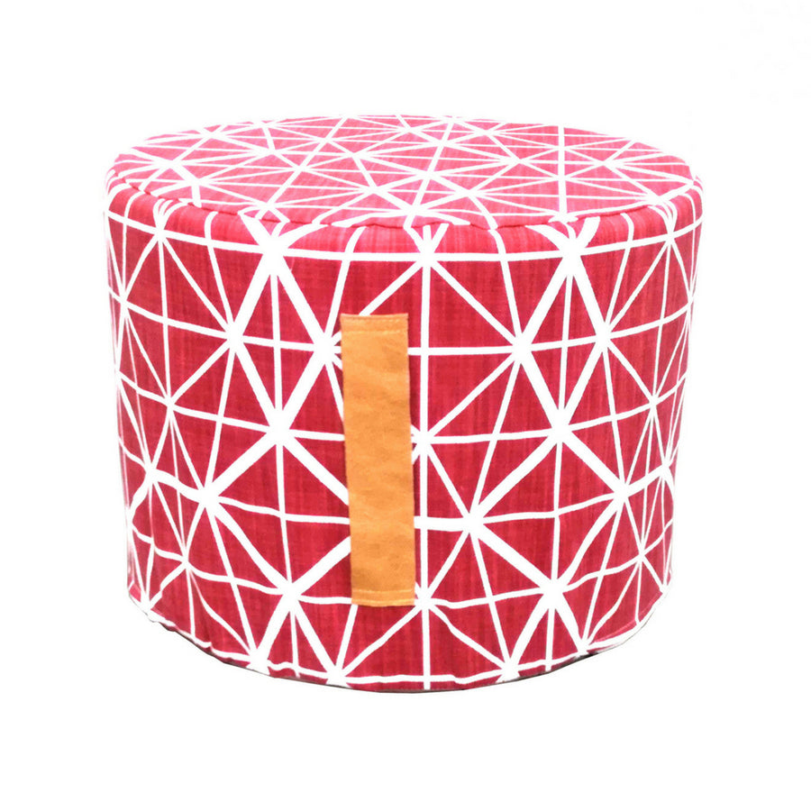 Facet Red Floor Ottoman - KNUS