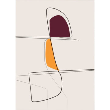 Abstract Aubergine Art Print- KNUS