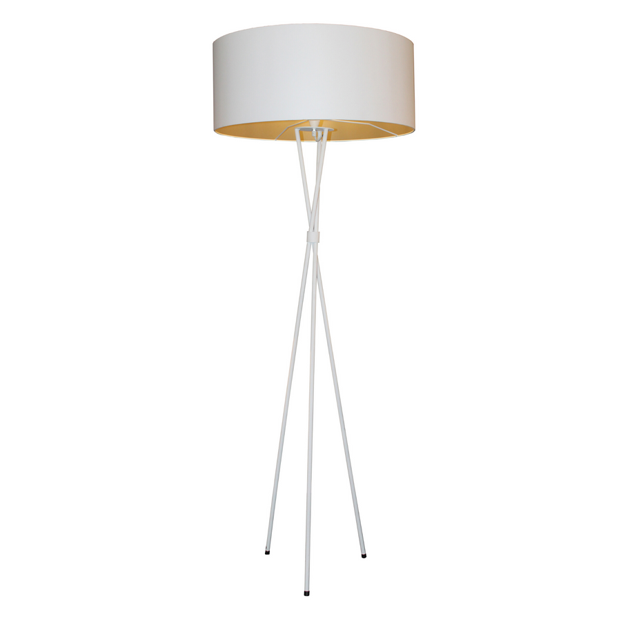 Mia White Tripod Floor Lamp - KNUS