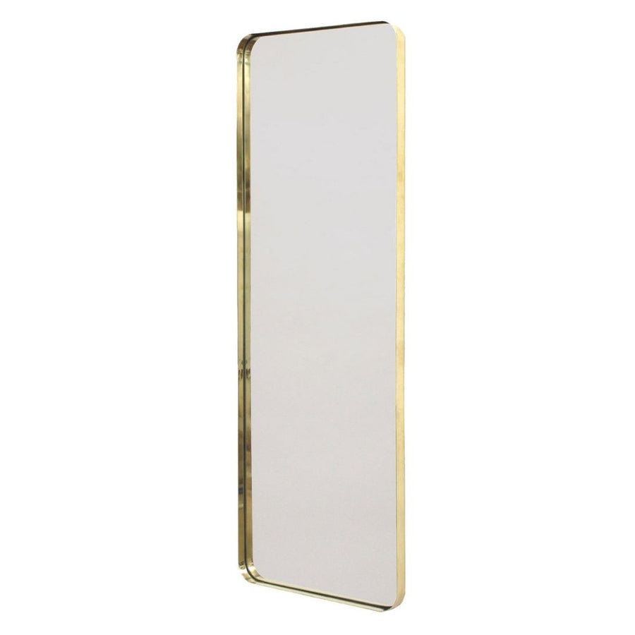 LED Backlit Brass Deep Frame Pill Mirror - KNUS
