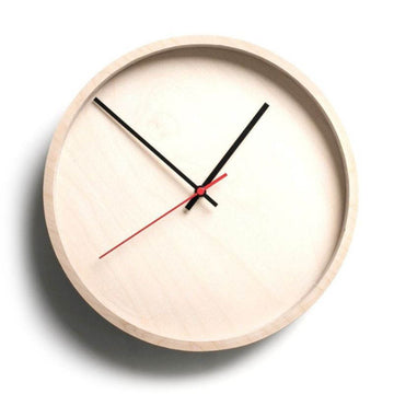 Natural Birch Frame Round Clock - KNUS