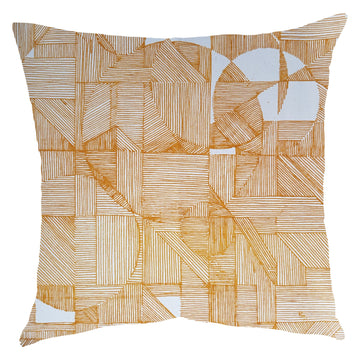 Mustard GEO Circle Scatter Cushion - KNUS