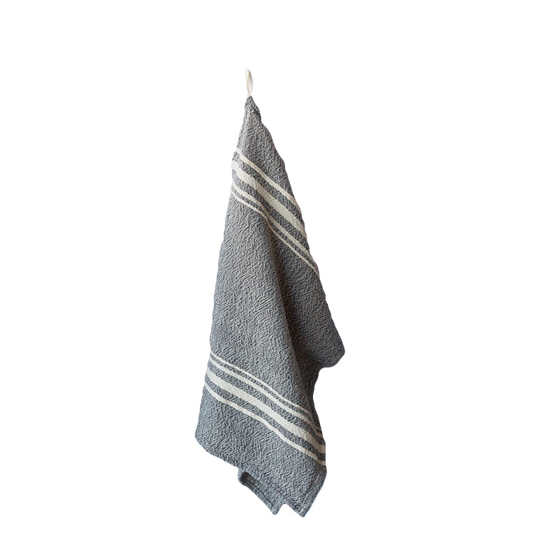 African Contemporary Tea Towel Charcoal - KNUS