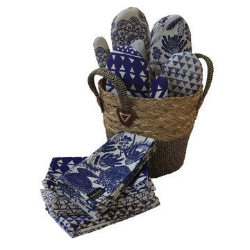 Indigo Printed Kitchen Glove - KNUS