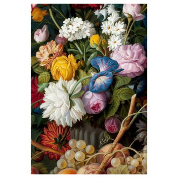 Flower Bunch Black Art Print - KNUS