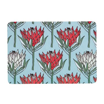 King Protea on Blue Melamine Placemat - KNUS