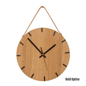 Liam Wall Clock in Oak  - KNUS