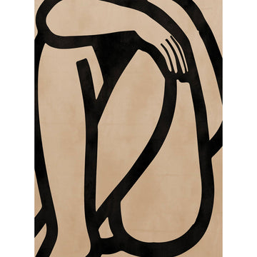 Woman Body Abstract Set 1 Art Print - KNUS