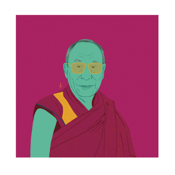 14th Dalai Lama Art Print - KNUS