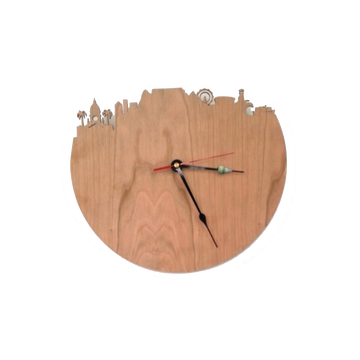 Cape Town Silhouette Wooden Wall Clock - KNUS