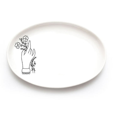 Hand and Flowers Plate - KNUS