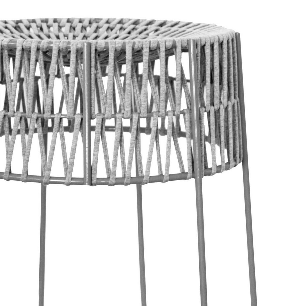 Light Grey Woven T-Yarn Stool