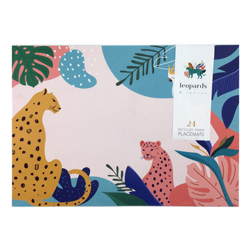 Leopards & Leaves Disposable Placemats - KNUS