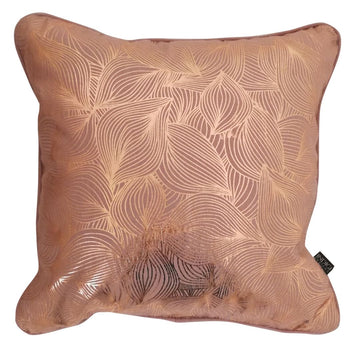 Lilium Rose Gold Foil on Nude Pink Cushion - KNUS