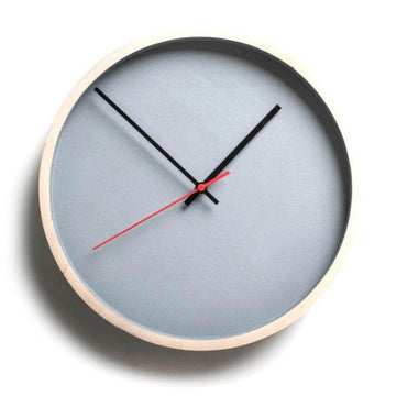 Grey Deep Frame Round Clock - KNUS