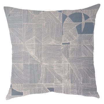 Blush on Grey GEO Circle Scatter Cushion - KNUS