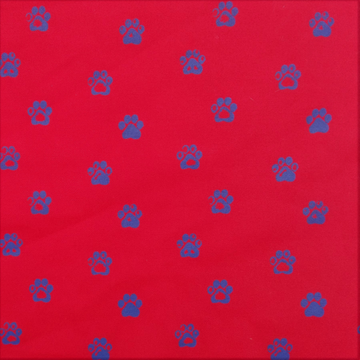 Paw Prints Red Fabric (Per Meter) - KNUS