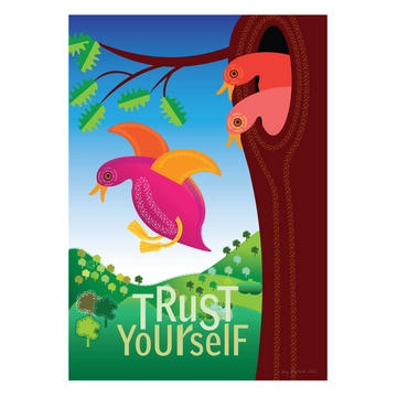Trust Yourself | Three Ducklings Mindfulness Print - KNUS