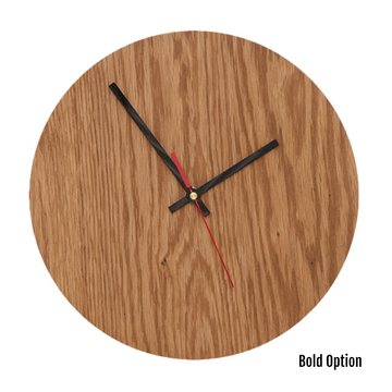 Quinn Wall Clock in Oak - KNUS