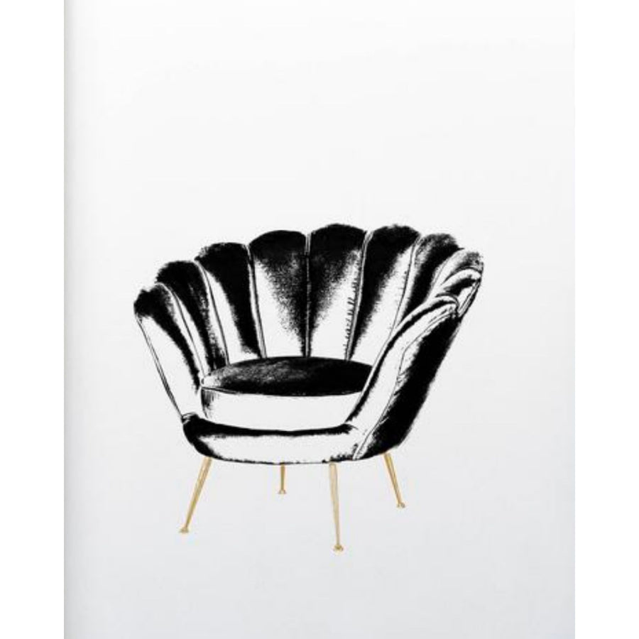 Occasional Chair Illustration Art Print - KNUS