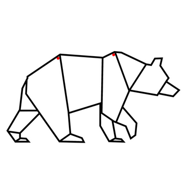 Geometric Bear Steel Wall Art - KNUS