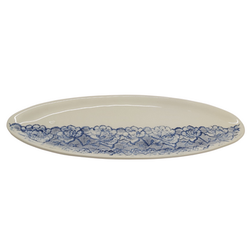 Blue Lace Oblong Platter - KNUS