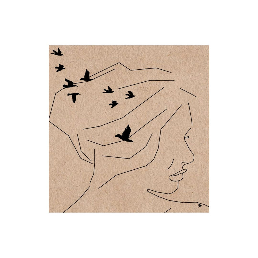 Woman with Birds Art Print