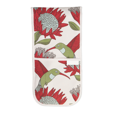 Protea Cream Oven Gloves - KNUS
