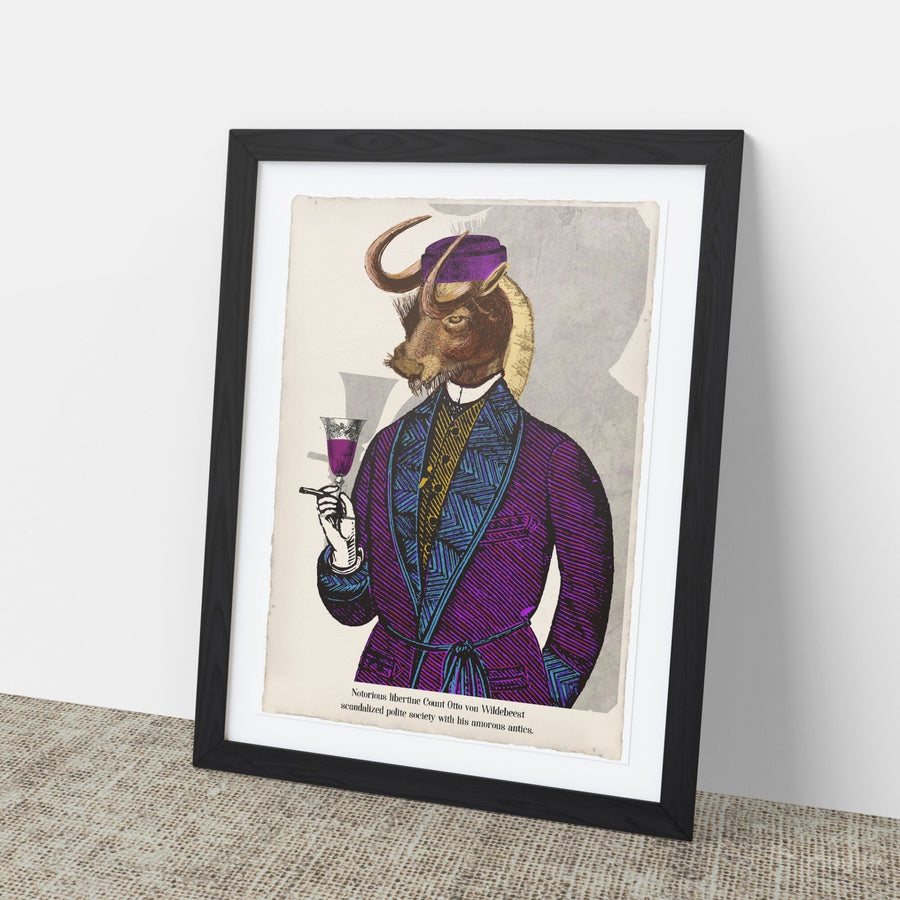 Count Otto von Wildebeest Art Print