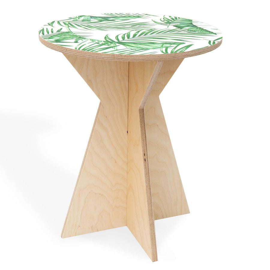 Luscious Leaf Geometric Side Table - KNUS