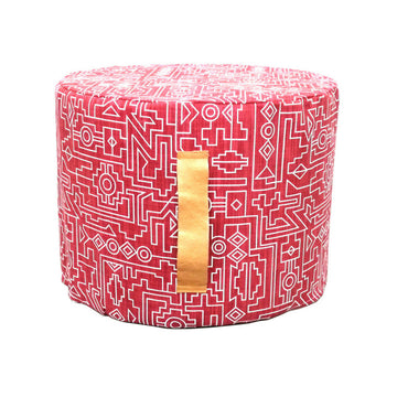 Ndemetric Red Floor Ottoman - KNUS