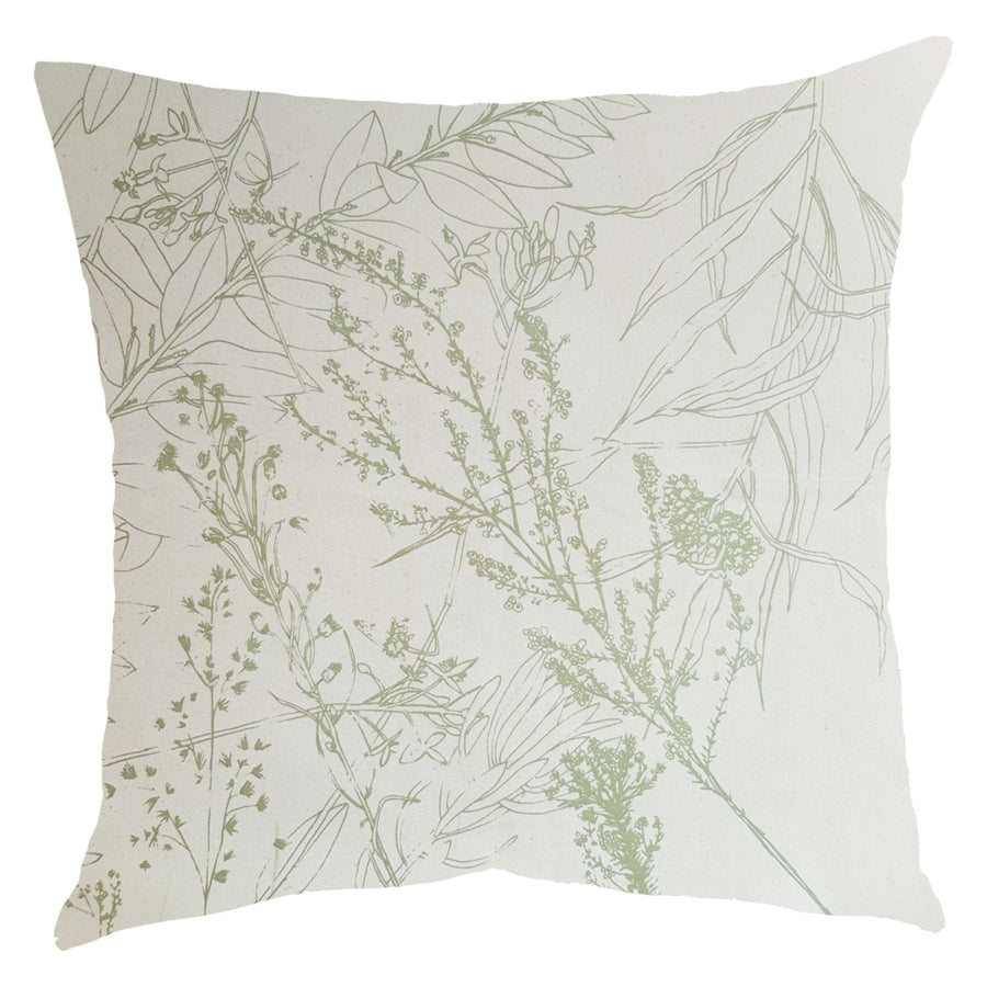 Sage Forage Print on Natural Scatter Cushion - KNUS