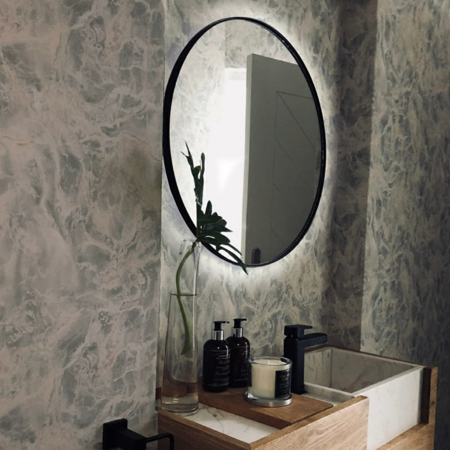 LED Backlit Brass Deep Frame Mirror