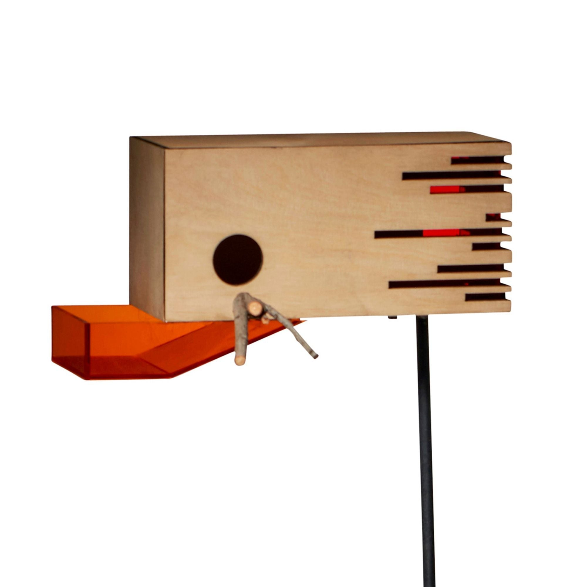 Modern Striped Bird Box - KNUS