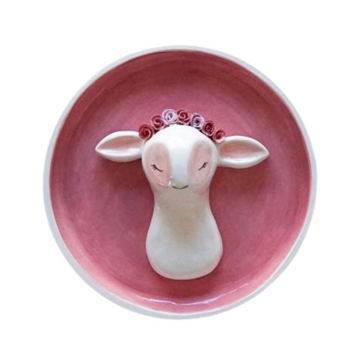 Lamb with Flower Crown Wall Hanging - KNUS