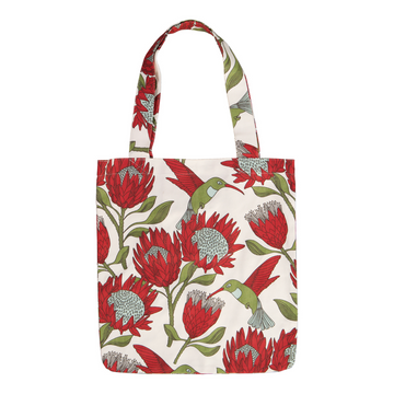 Protea Cream Tote Bag - KNUS