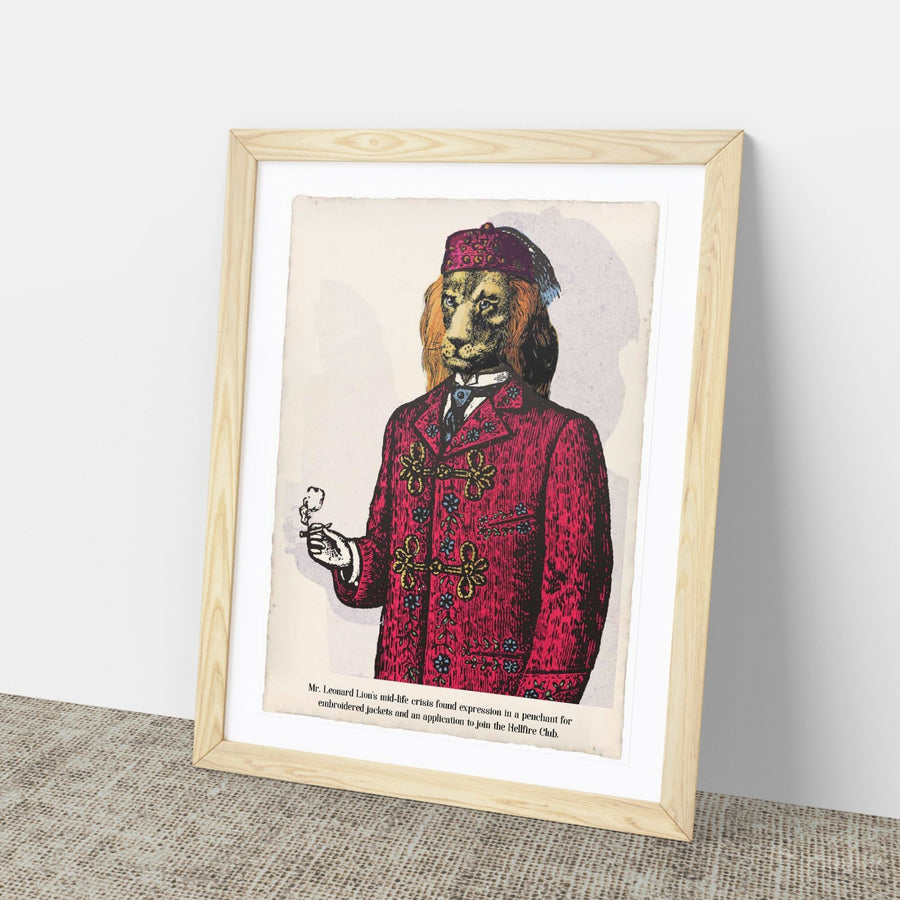 Mr Leonard Lion Art Print