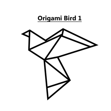 Origami Birds Set of 3 Steel Wall Art - KNUS