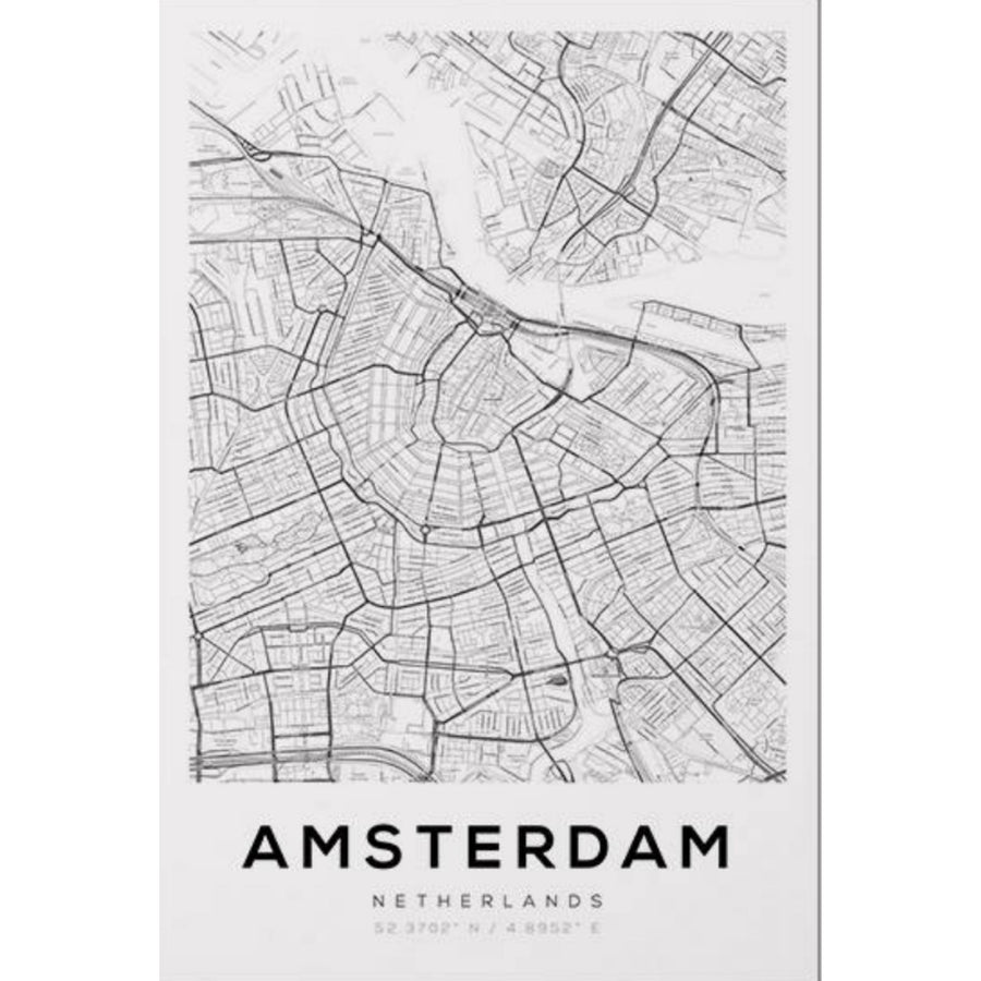 Amsterdam Map Art Print - KNUS