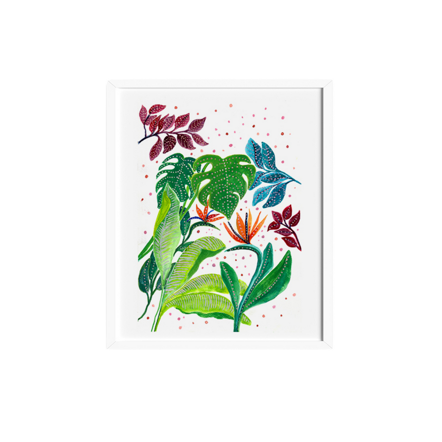 Tropical & Cape Flowers Art Print - KNUS