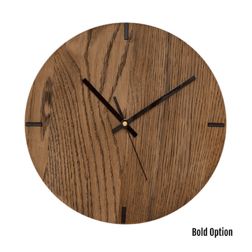 Mika Wall Clock in Oak - KNUS