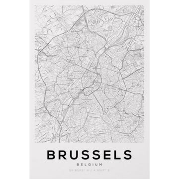 Brussels Map Art Print - KNUS