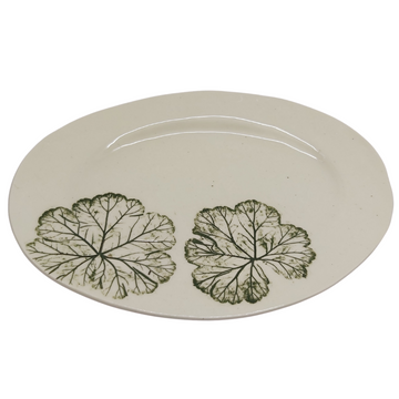 Medium Green Leaf Oval Platter - KNUS