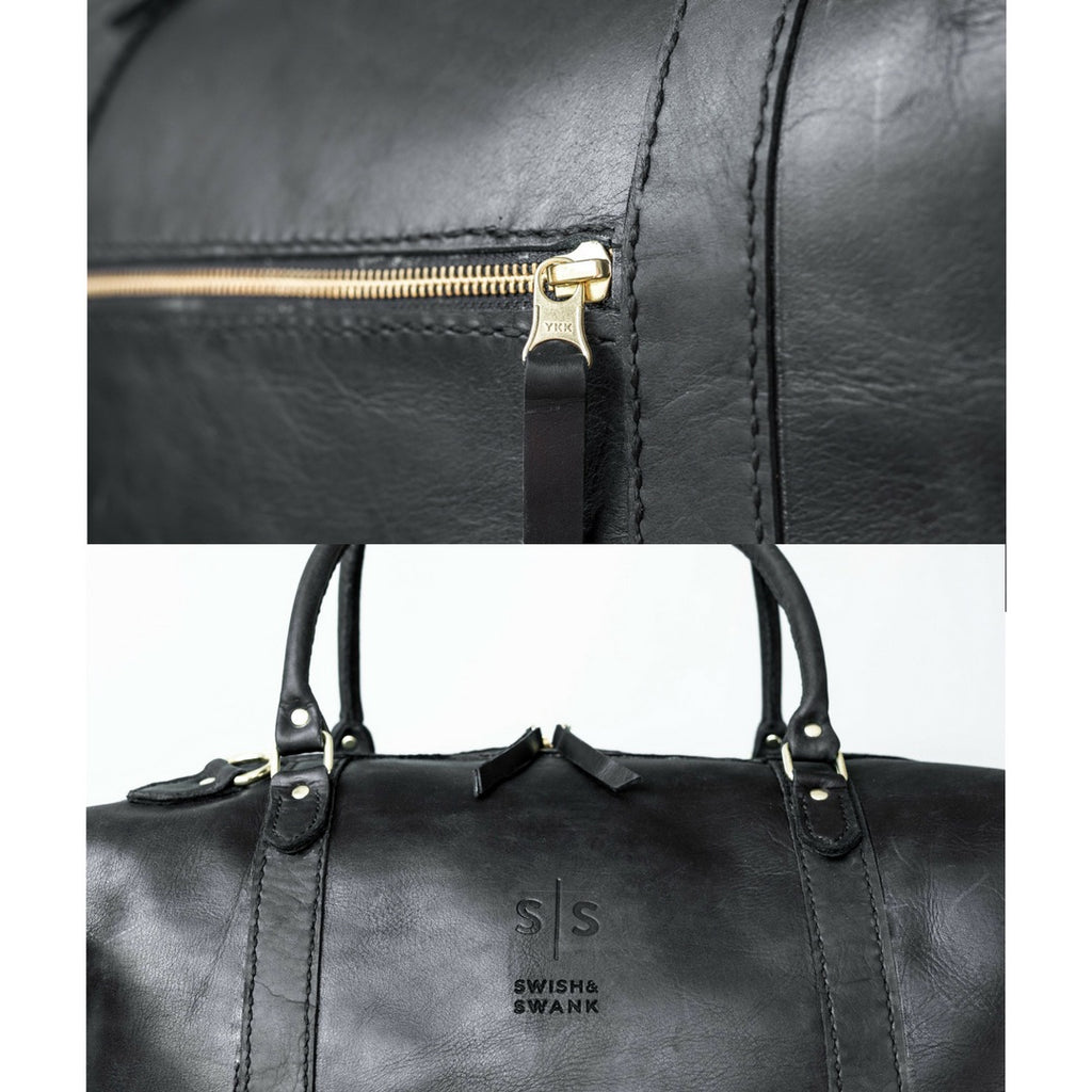 The Hand-stitched Black Duffle Bag