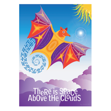 There is Space Above the Clouds Mindfulness Art Print